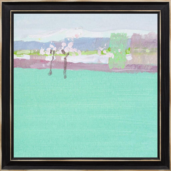 The Early Spring - Abstract Landscape Contemporary by Nekraha, Igor in a Distressed Classic Black frame
