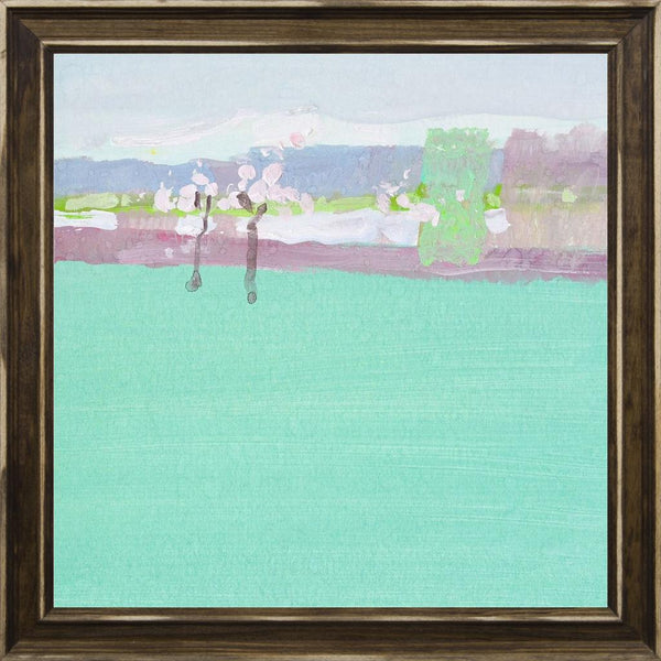 The Early Spring - Abstract Landscape Contemporary by Nekraha, Igor in a Distressed Classic Saddle frame