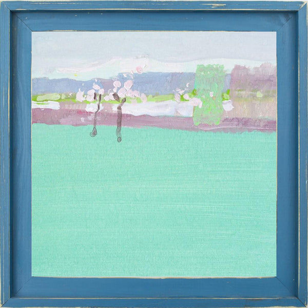 The Early Spring - Abstract Landscape Contemporary by Nekraha, Igor in a Farmhouse Distressed Lagoon frame