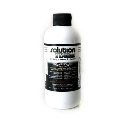 Solution Finish Trim Restorer - Black