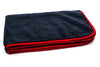 "Black with Red Silk Edge Microfiber Detailing Towel 360 gsm, 16"" x 24"""