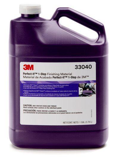"3M Perfect-It 1-Step 8"" Hookit Gallon Compound, 8000g Abrasive Kit"