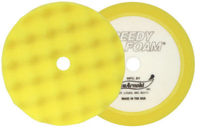 SM Arnold Speedy Foam 6'' Waffle Foam Polishing Pad, 2 Pack