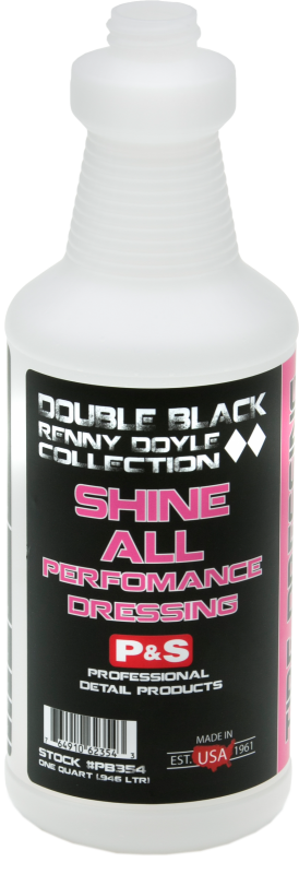 P&S Double Black Shine All Water Based Performance Dressing Gallon w/ Bottle & Trigger