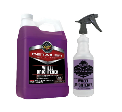 Meguiar's D140 Detailer Wheel Brightener Gallon w/ Bottle & Sprayer