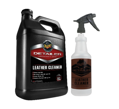 Meguiar's D181 Detailer Leather Cleaner Gallon w/ Bottle & Sprayer