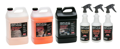 P&S Double Black Carpet and Upholstery Gallon Kit w/ (3) Bottles and (3) Triggers