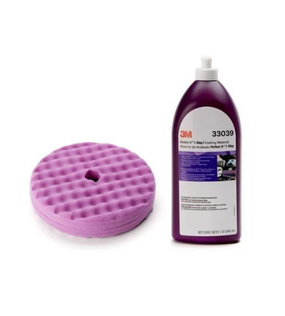 "3M Perfect-It 1-Step 8"" QC Foam Pad, Quart Compound Kit"