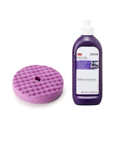 "3M Perfect-It 1-Step 8"" QC Foam Pad & 8 oz. Compound Kit"