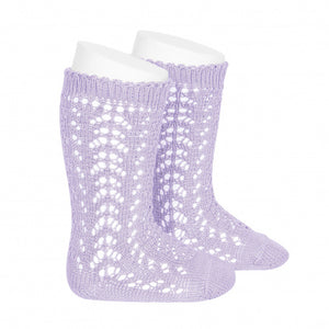 Openwork Knee High Socks
