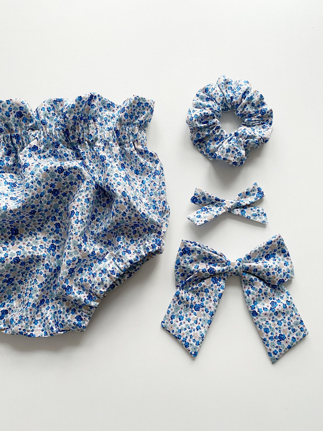 Ditsy Blue Floral High Waisted Bloomers (Ready to post)