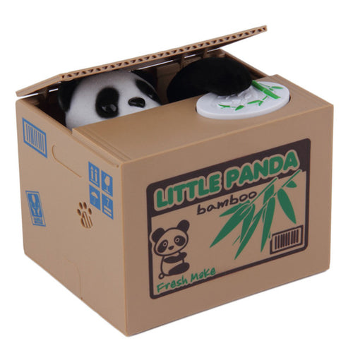 Coin Stealing Panda Piggy Bank