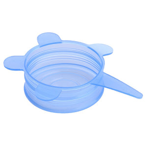 6pcs Universal Silicone Lid Cover Spill Stopper