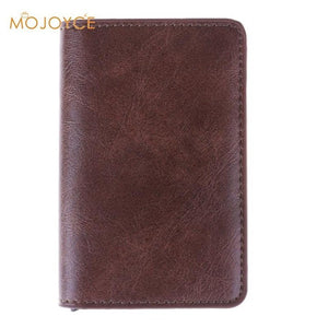 Anti Theft RFID Aluminium Alloy Credit Card Holder PU Leather Wallet For Men