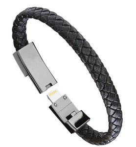 Outdoor Portable Leather Mini Micro USB Bracelet