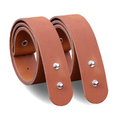 Cognac leather brackets