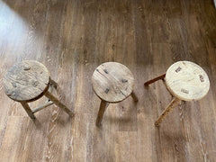 Example round stool top view