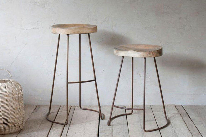 Loko Mango Wood Stool - Tall