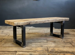 The Reclaimed Rustic Artisan Bench - 65MM Solid Pine