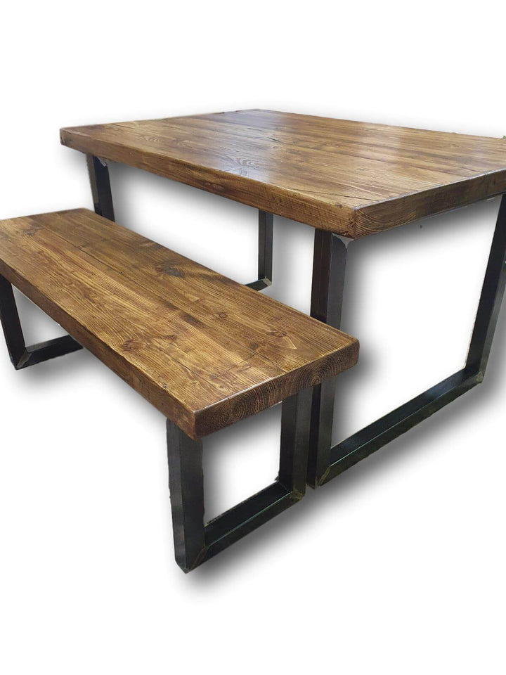 The 65mm Reclaimed Rustic Weathered Table - Oil Finish (4632992907319)