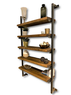 Industrial Box Section Shelving Unit - Wall Mounted