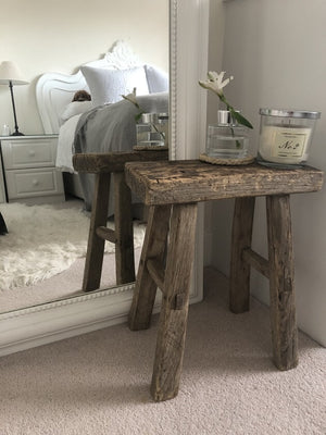 Rustic Stools - 35 to 40cm Height