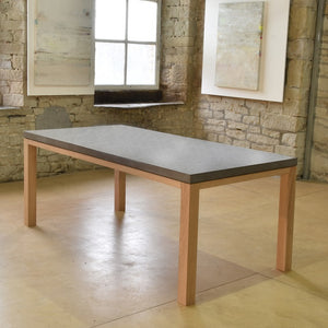 The Newton Concrete & Oak Dining Table. - Acumen Collection