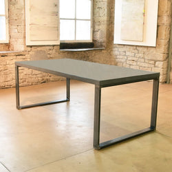 The Stirling Concrete & Steel Dining Table. - Acumen Collection