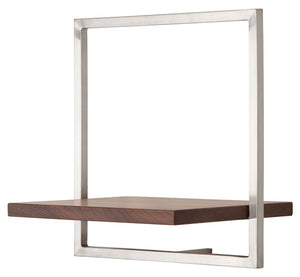 SHELFMATE Amercian Walnut Stainless Steel - Style B