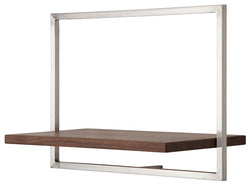 SHELFMATE American Walnut Stainless Steel - Style C