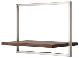 SHELFMATE Amercian Walnut Stainless Steel - Style C