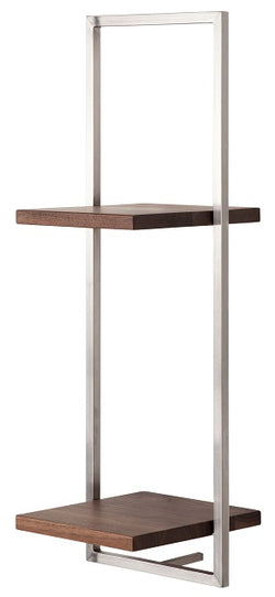 SHELFMATE American Walnut Stainless Steel - Style D
