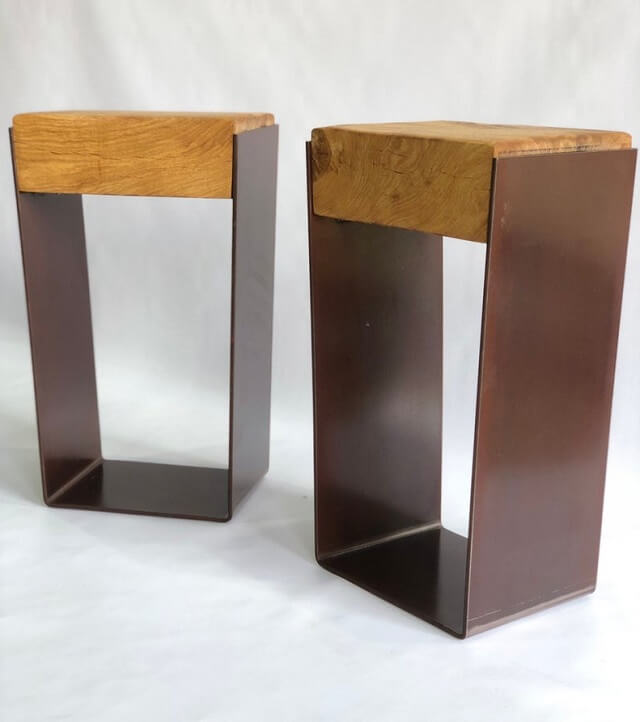 Reformed Steel Side Table - Acumen Collection