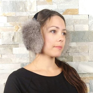 Recycled Fur Earmuffs for Women