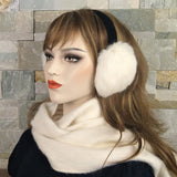 White Rabbit Fur Earmuffs