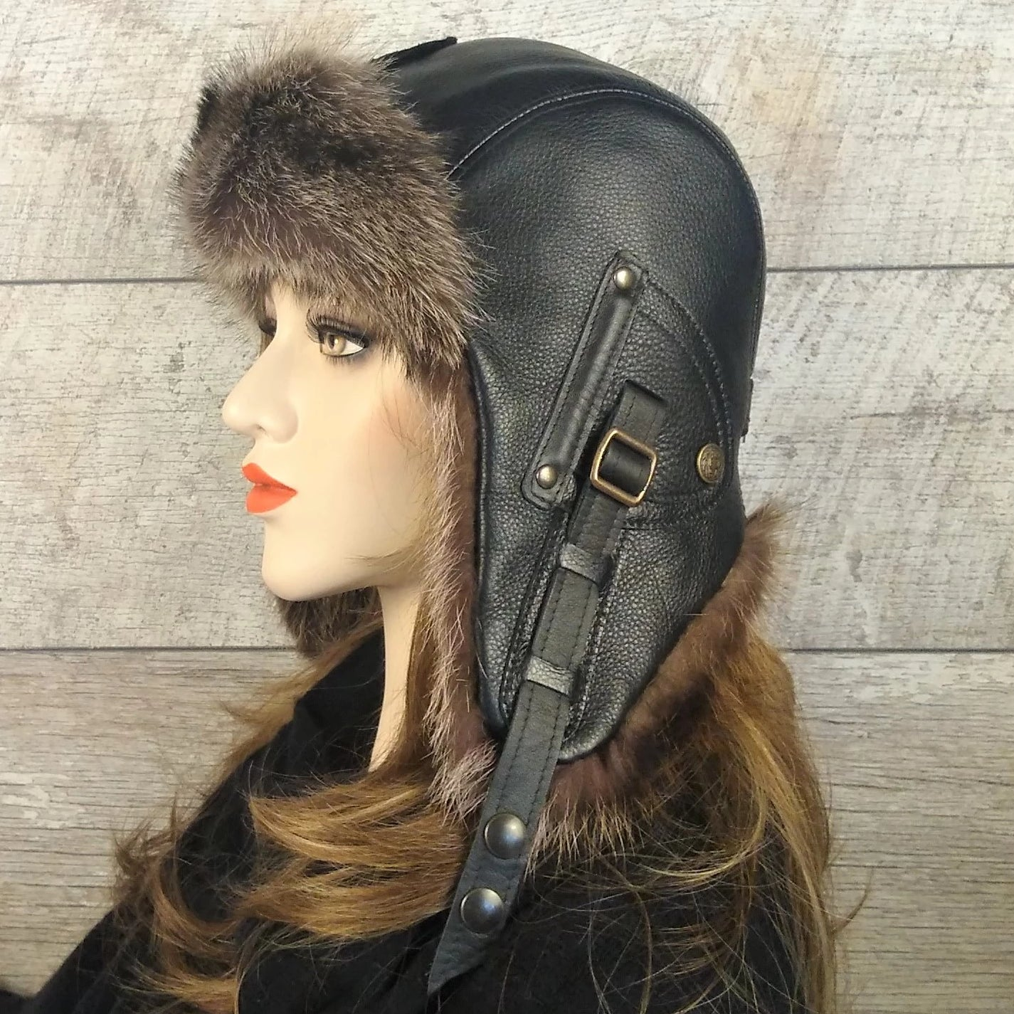 Fur Aviator Hat for women