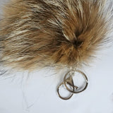 coyote recycled fur pompom