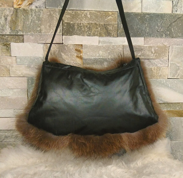 Fur Handbag - Muff, Raccoon Fur
