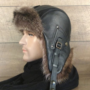 Men's fur aviator hat