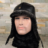 Men's shearling hat
