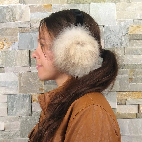 Recycled Norwegian Fur Earmuffs