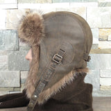Raccoon fur hat for men