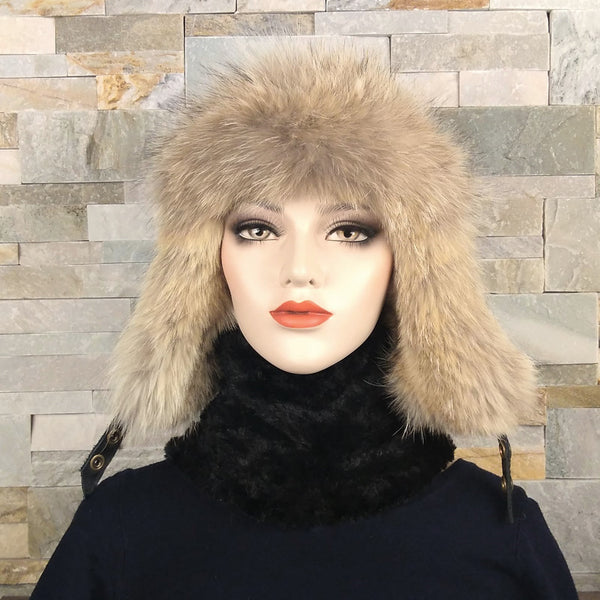 women's coyote fur hat