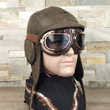 Aviator cap and goggles