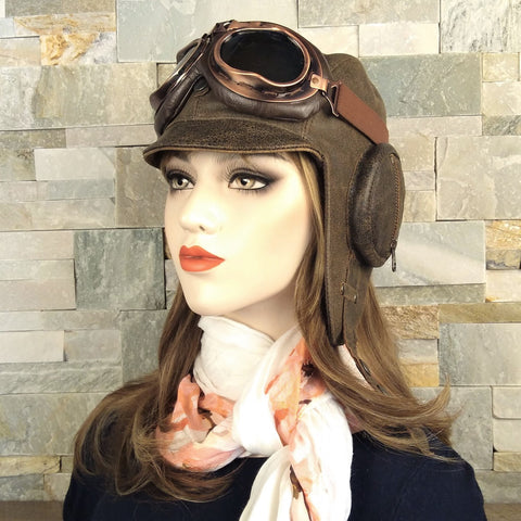 Aviator hat and goggles