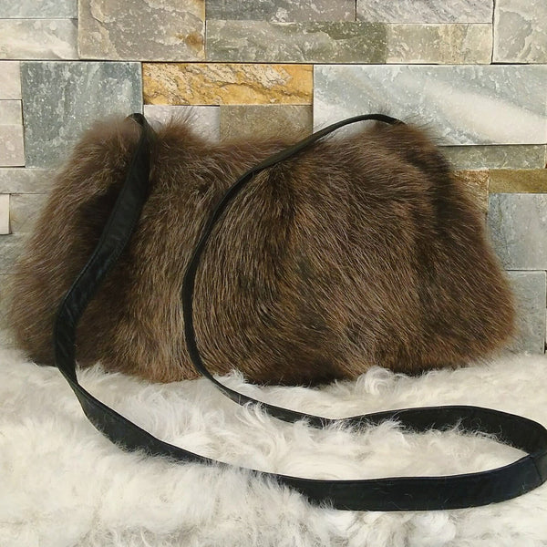 Recycled fur handbag
