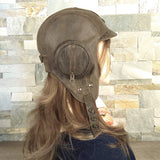 Brown leather aviator cap