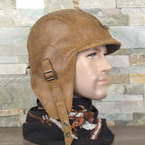 Leather aviator helmet tan