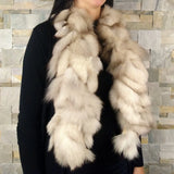 Recycled fur scarf for women