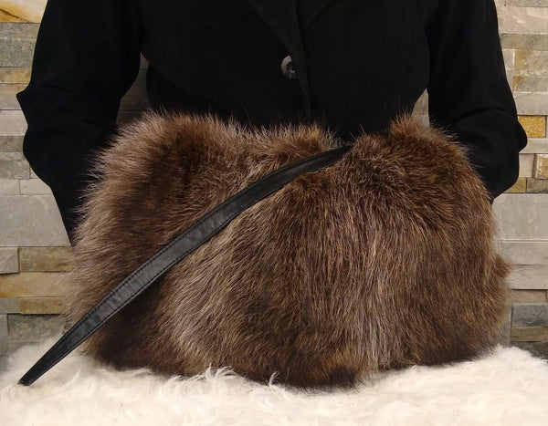 Recycled fur handbag - muff